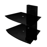 TV-WAND Shelver - Glas - Hochglanz Anthrazit,